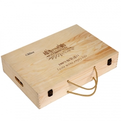 Wooden Gift Carry Boxes
