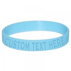 Debossed Logo Silicone Wristbands