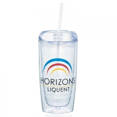 16oz Double Wall Acrylic Tumblers with Straw